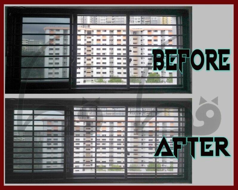 Qittun cat proof window cat safe aluminium grills grilles
